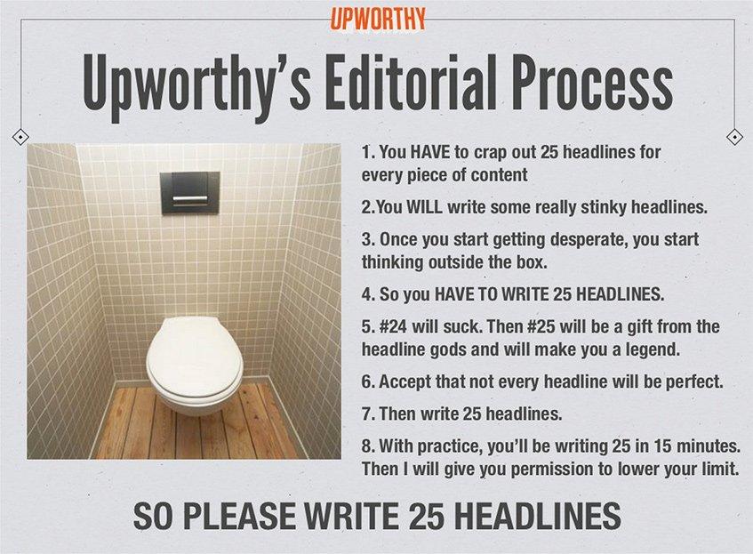 Upworthy e as suas 25 headlines