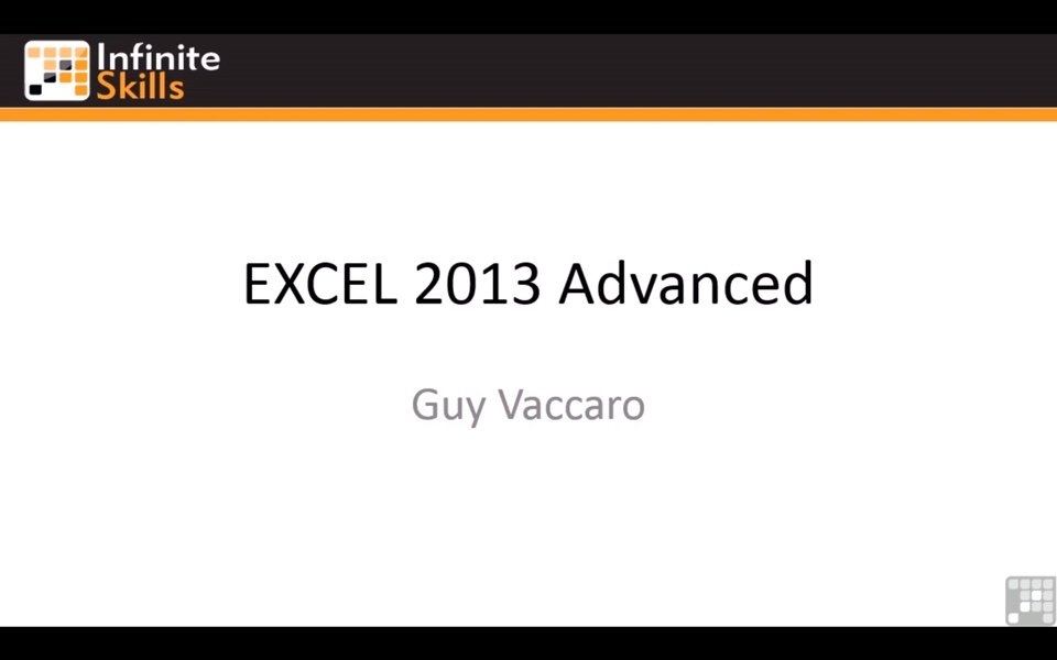 Excel 2013 no Infinite Skills