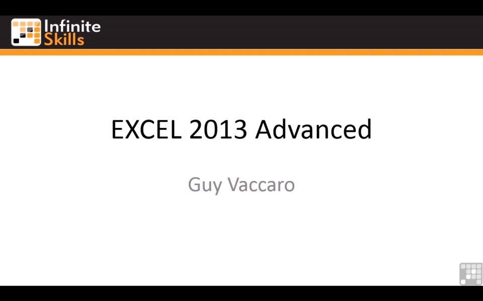 Excel 2013 no Infinite Skills