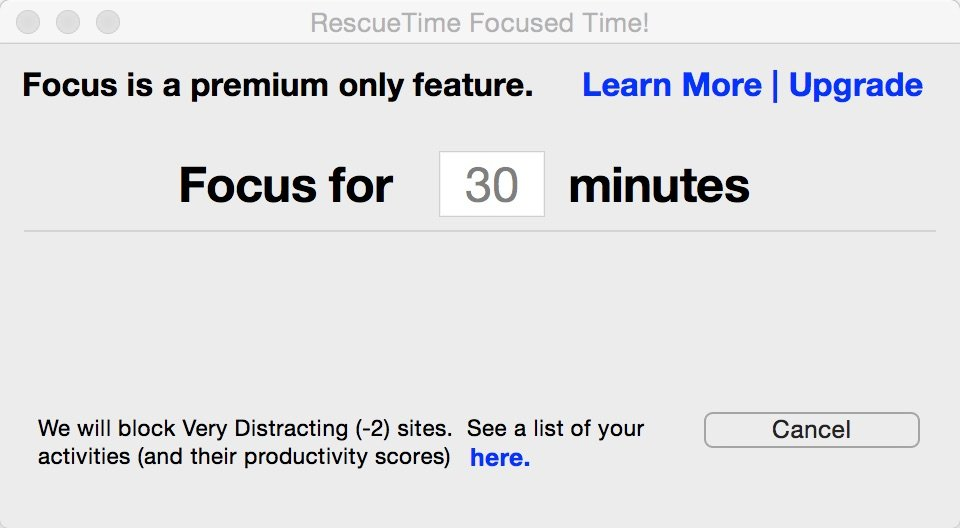 RescueTime - get focused