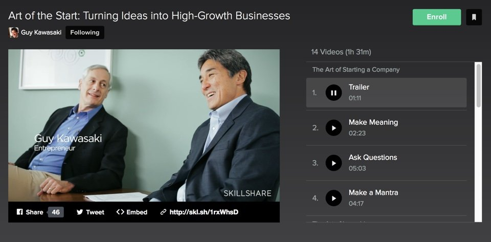 Guy Kawasaki no Skillshare