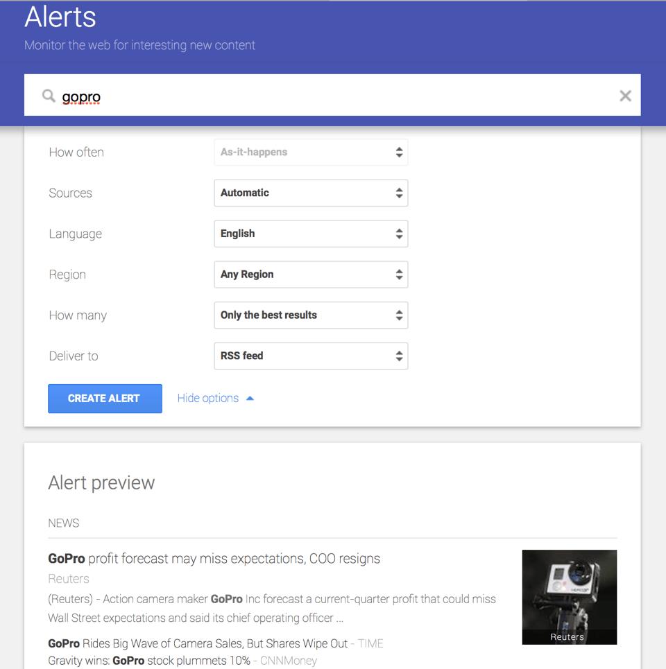 Google Alerts - GoPro