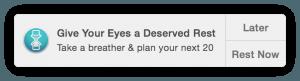 Look Up - notificação para descansar a visão