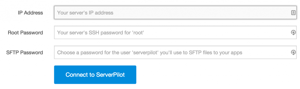 Configurar ServerPilot