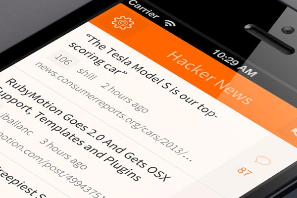 Hacker News em mobile