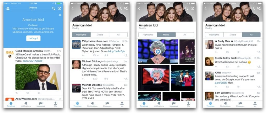 Twitter TV Timelines