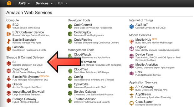 Amazon S3 da Amazon Web Services