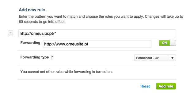Cloudflare - Page Rules