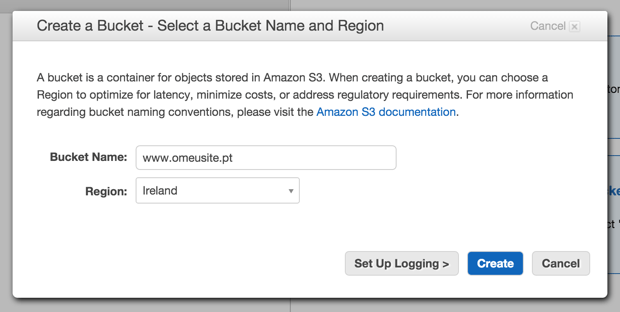 Amazon S3 - Create a Bucket
