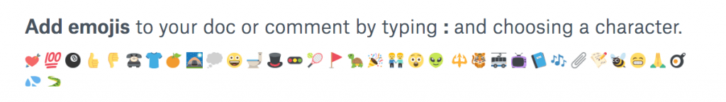 Dropbox Paper - Emojis