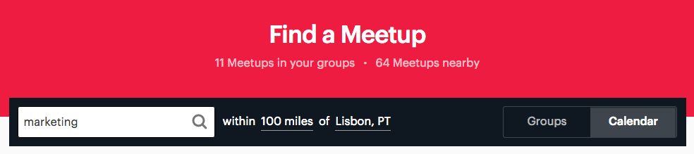 Meetup - Marketing
