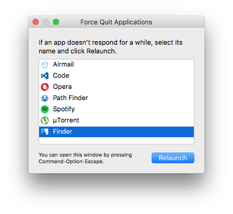 Force Quit no OSX