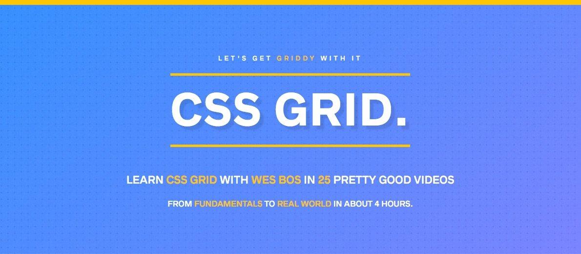 CSS Grid - o curso de Wes Bos