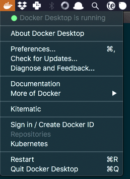 Docker Desktop is running