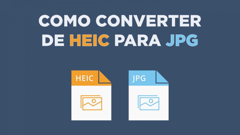 Como Converter de HEIC para JPG