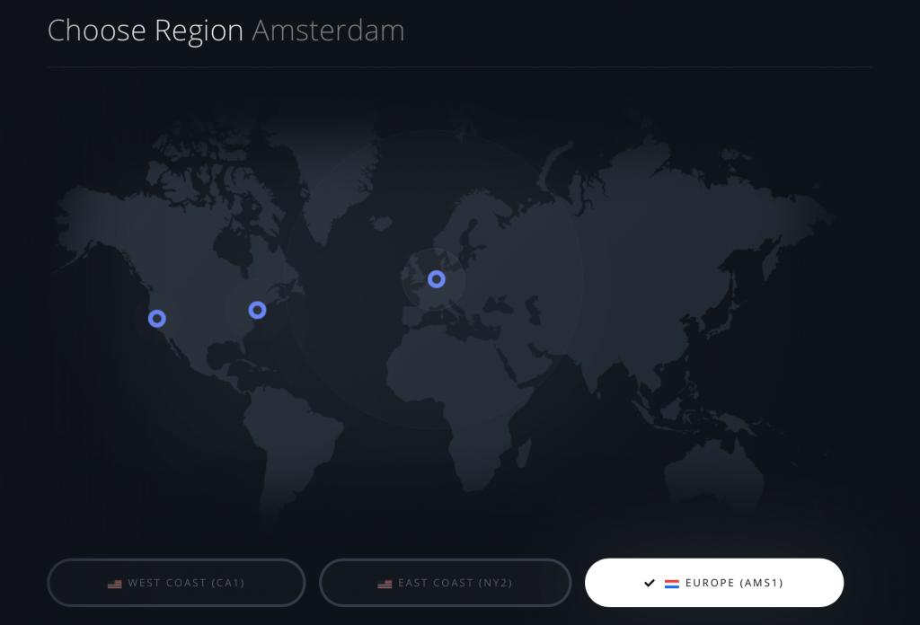 Paperspace - Choose Region